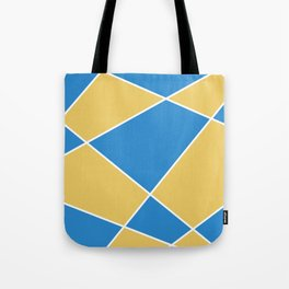 Geometric abstract - orange and blue. Tote Bag