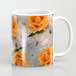 CORAL ROSES AND CHERRY BLOSSOMS Coffee Mug