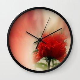 window curtain - poppylove Wall Clock