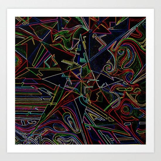 mixing Color star  Art Print