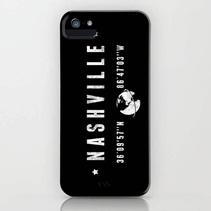 Nashville, geographic coordinates iPhone Case