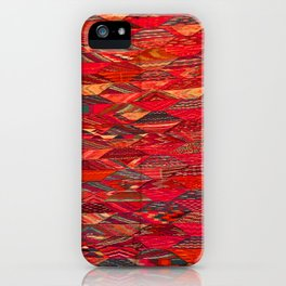 V35 Red Traditional Moroccan Artwork Pattern iPhone Case