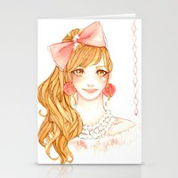 girly Stationery Cards featuring Girly by ilovevanilla