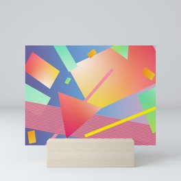 80's inspired art Mini Art Print