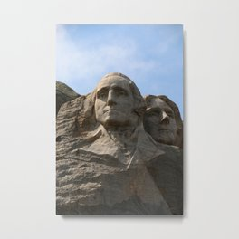 George Washington And Thomas Jefferson  - Mount Rushmore Metal Print