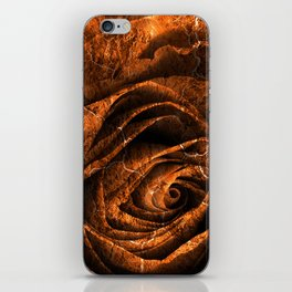 Burning Grunge Rose iPhone Skin