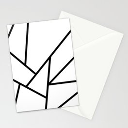 Abstract Marble-Black and White Stationery Cards