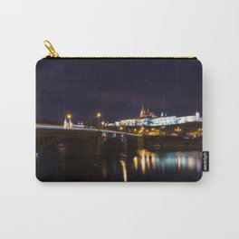 Prague castle at night. Carry-All Pouch