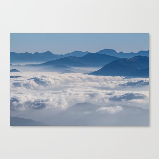 Follow me into the clouds #plane #air Canvas Print