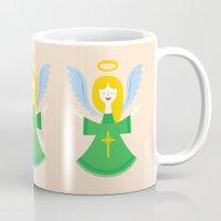 angel Mugs featuring Angel by Wharton