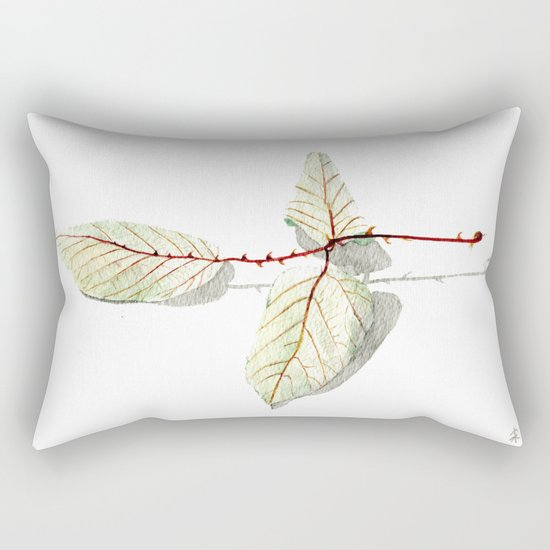 Autumn leaf of berrie Rectangular Pillow