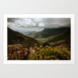 Vibrant Mountain Range Landscape, Big Bend Art Print