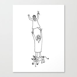 How Jesus helped me to win Satan during my first communion Canvas Print