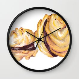 Biscuits Illustration Wall Clock