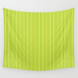 Lime Green Pinstripe Wall Tapestry