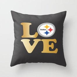 Pittsburgh Steelers_Love Throw Pillow