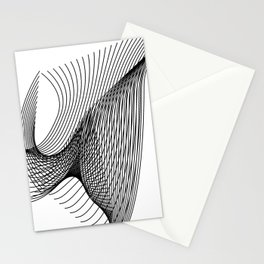 """Script Collection"" - Minimal Letter W Print Stationery Cards"
