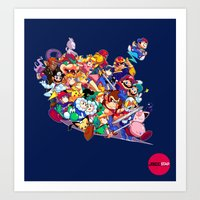 Super Smash Bros. Melee Art Print