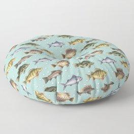 Watercolor Fish Floor Pillow