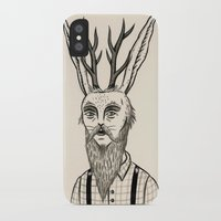 jackalope iPhone & iPod Cases featuring Jackalope by Jon MacNair