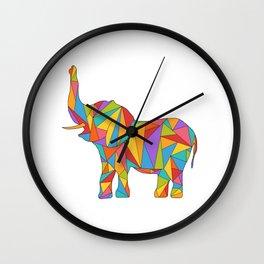 Polychromatic Elephant Wall Clock