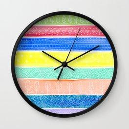 Happy Doodle Wall Clock