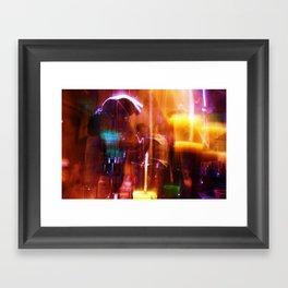 NewYearsLights Framed Art Print
