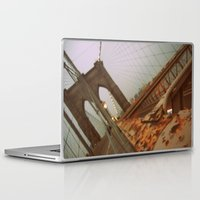 brooklyn bridge Laptop & iPad Skins featuring Brooklyn Bridge  by S|Tarah
