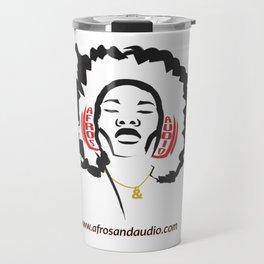 Afros & Audio Official Logo Travel Mug