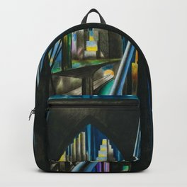 Brooklyn Bridge, New York City Skyline Art Deco landscape painting by Joseph Stella Backpack