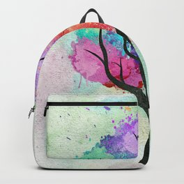Awesome abstract pastel colors oil paint tree of Life Backpack