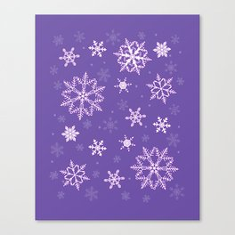 snowflakes on the blue Canvas Print