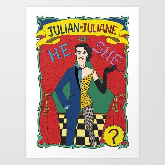Julian/Julianne Art Print