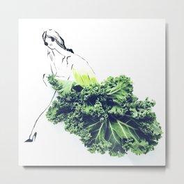 Edible Ensembles: Kale Metal Print