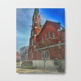 Saint Mary's Catholic Church in Moline, Illinois Metal Print