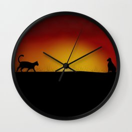 Coming back home Wall Clock