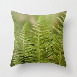 Green Ferns Throw Pillow
