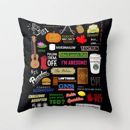 How I Met Your Mother | HIMYM | Barney Stinson | Tv show Throw Pillow