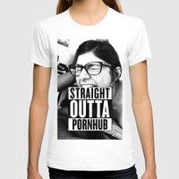 wiz khalifa T-shirts featuring Mia Khalifa straight outta pornhub by MartiniWithATwist