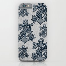 USN Anchor American Traditional Tattoo Design (Blue) Slim Case iPhone 6s