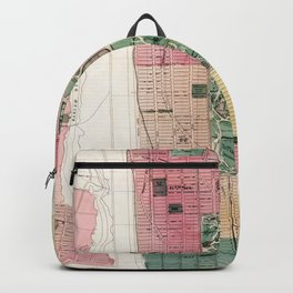 New York Vintage Maps And Drawings Backpack