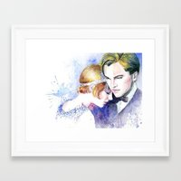 the great gatsby Framed Art Prints featuring Great Gatsby by Johnny Rockets