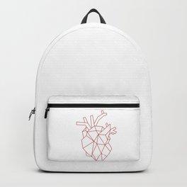 Red Geometric Heart Backpack
