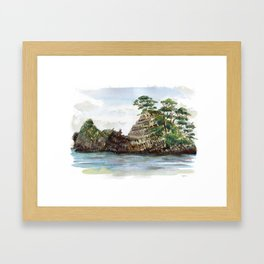 Whangapoua island , Coromandel peninsula , New Zealand Framed Art Print