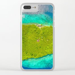 Drone Pescador Island, Philippines Clear iPhone Case