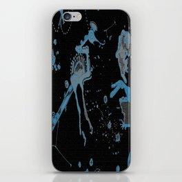 Blue Bird Lizard iPhone Skin
