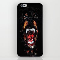 givenchy iPhone & iPod Skins featuring Givenchy Rottweiler by sixsociety