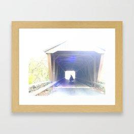 ghost on the bridge Framed Art Print