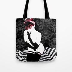PinUp Preppie Girl Tote Bag