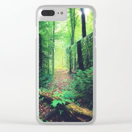 Lacanian Forest Clear iPhone Case